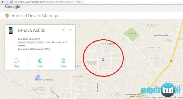 android device manager to find a smartphone