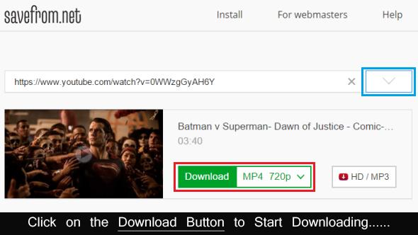 downloading begins