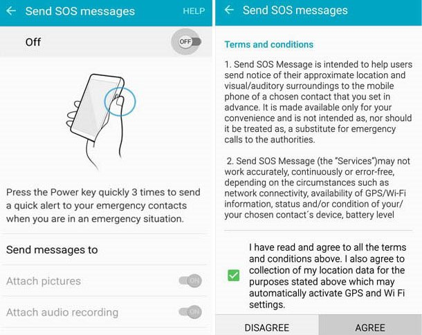 SOS feature or Panic Button in Smartphones in emergency
