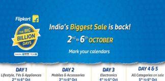 Flipkart Big Billon Day 2016 Day 1 to Day 5