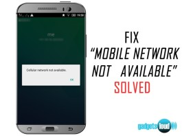 MOBILE NETWORK NOT AVAILABLE