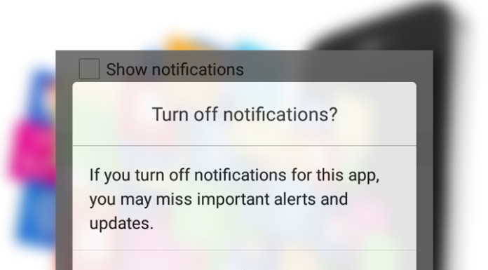 TURN OFF NOTIFICATIONS OF A SMARTPHONE
