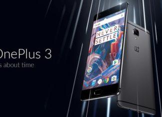 oneplus 3 smartphone wirh 6GB RAM