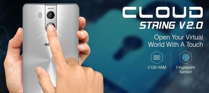 Intex Cloud String V2.0 Smartphone with in built SOS feature and Fingerprint Sensor (Android Phone)