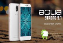 Intex Aqua Strong 5.1 with Corning Gorilla Glass 2 Protections with Front Flash