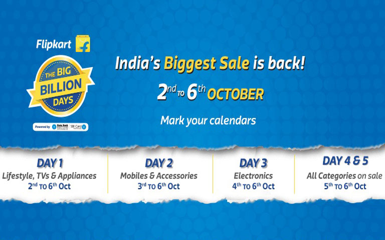 Flipkart Big Billon Day 2016 Day 1 to Day 5