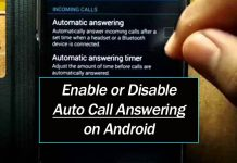 Enable or Disable Auto Call Answering