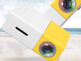 DeepLee A1 DP300 Mini LED Portable Projector