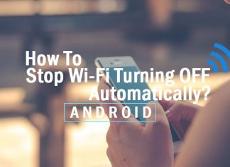 Stop WiFi Turning OFF Automatically in Android
