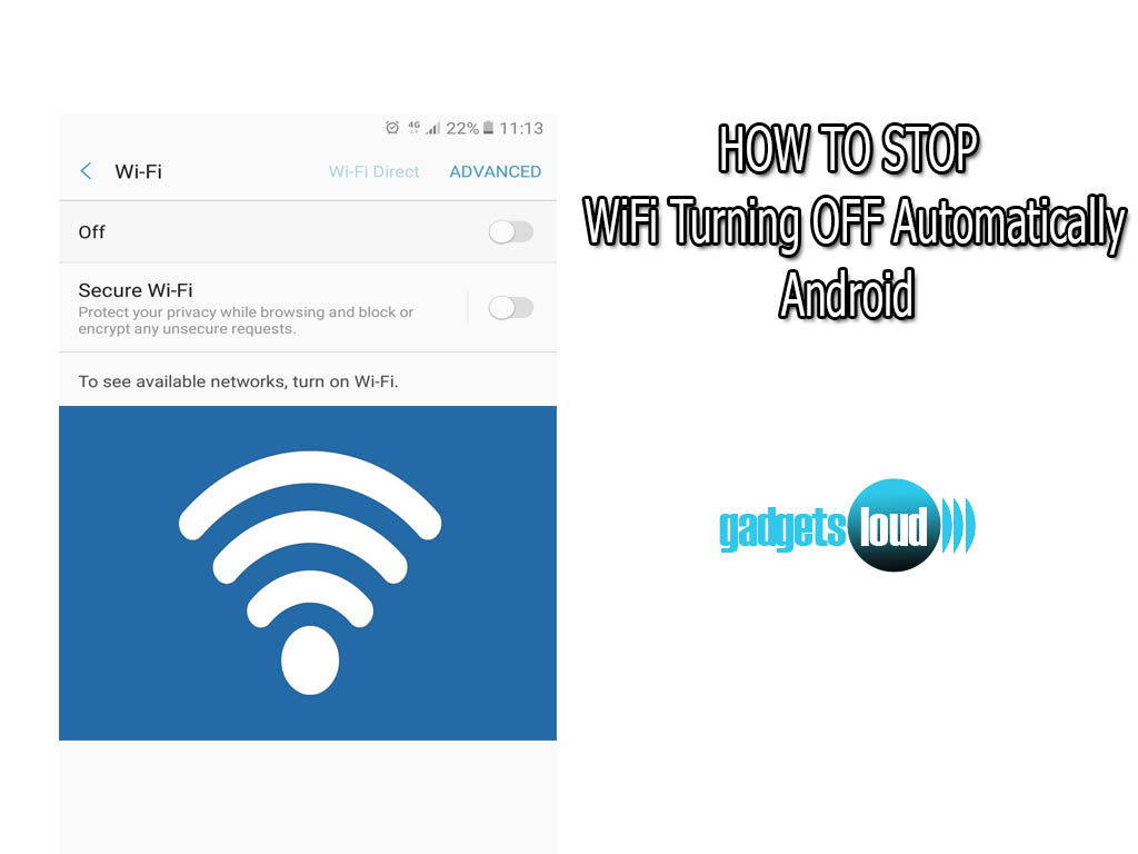 Stop WiFi Turning OFF Automatically