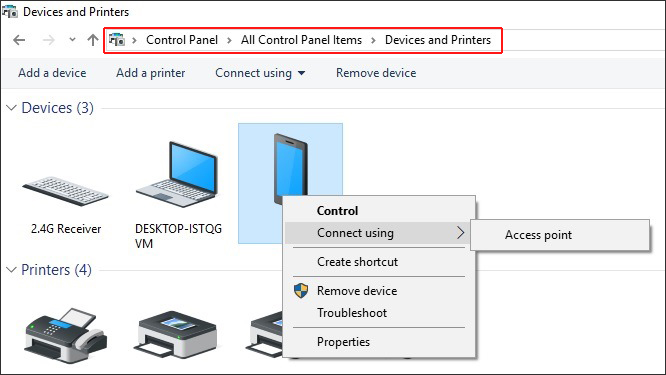 bluetooth bt tethering android to windows pc