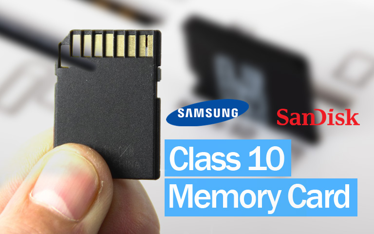 Class 10 Memory Card (Samsung vs Sandisk) with SD Adapter