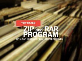 Best Zip, Unzip, Unrar and Rar Program for Your Files