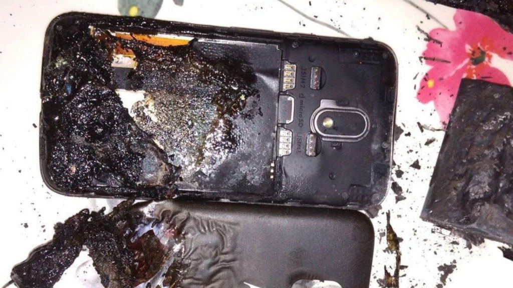 Phone Battery Gets Exploded