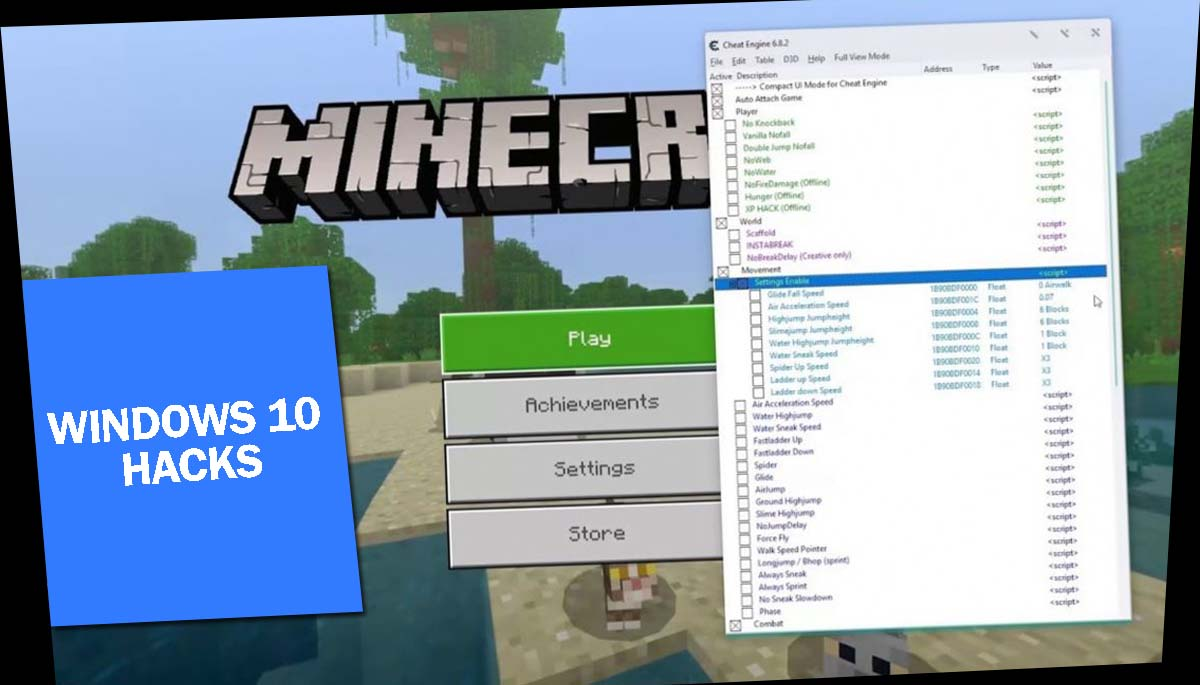 Minecraft Windows 10 Hacks