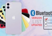 iPhone Bluetooth version