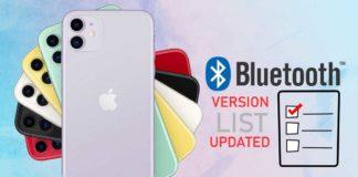 iPhone Bluetooth version